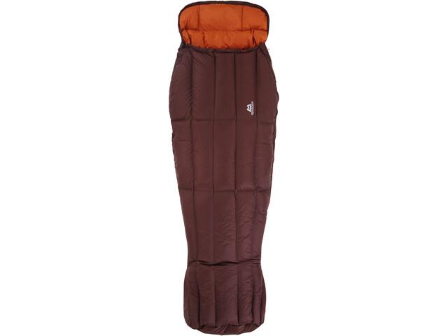 Mountain Equipment Dreamcatcher Sleeping Bag Dame dark chocolate/blaze